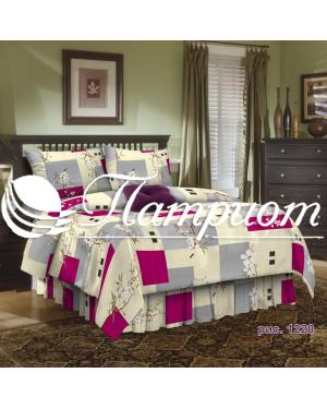 КПБ 1.5 спальный набивная бязь 125 гм2 1220-1