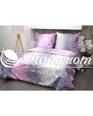 КПБ 1.5 спальный Симфония, розовый, набивная бязь 125 гм2 355-1
